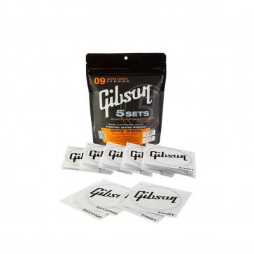 Gibson Brite Wire žice za električnu gitaru 5 kompleta .009 - .042