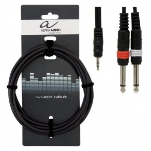 Gewa kabel adapter 2 mono 6,3mm jackovi - stereo 3,5 jack, 1,5m