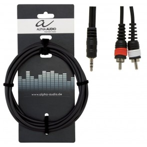 Gewa kabel adapter stereo 3,5mm jack - 2 RCA muški, 3m
