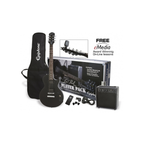 Epiphone Les Paul Player Pack Ebony gitarski komplet