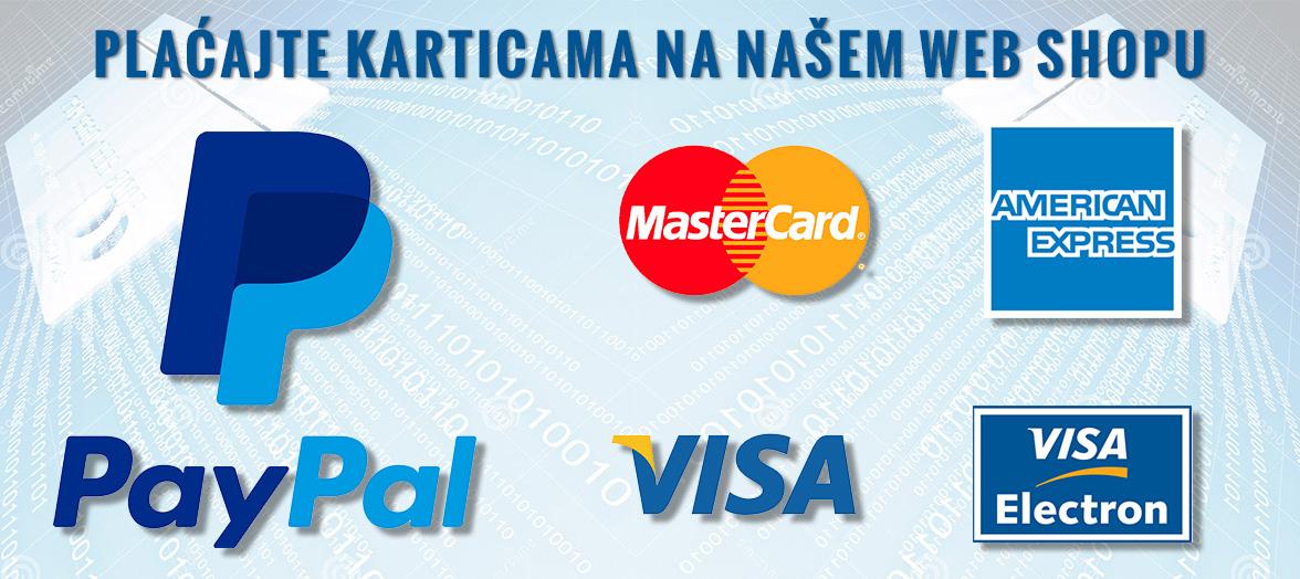 PayPal i kartični načini plaćanja