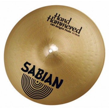 "Sabian Hand Hammered 14"" Bright Hats"