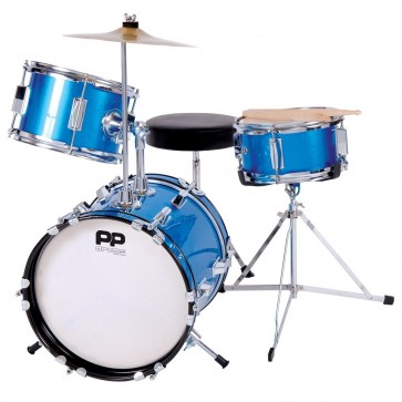 Performance Percussion Drums Junior Drum Set (3 Pieces) Metallic Blue