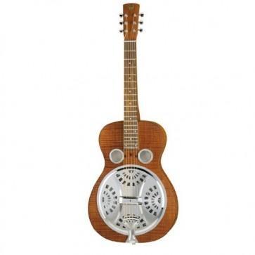 Resonator gitara, tijelo javor, vrat javor, prstohvat ružino drvo, piezo pickup