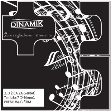 Dinamik 2. D žica za basprim (brač) G štim