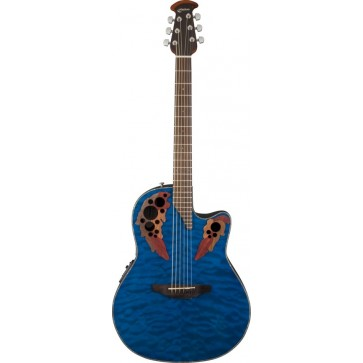 Ovation CE44P-8TQ Celebrity Elite Plus Trans Blue Quilt Maple