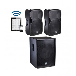 "Alto Professional 1x18"" sub 2x10"" wireless sateliti"
