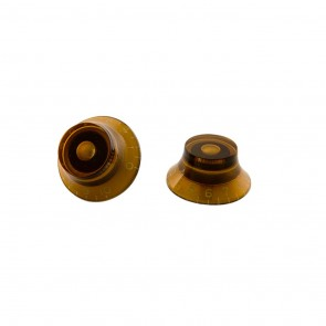 Gibson Top Hat Knobs - Vintage Amber 4/Pkg
