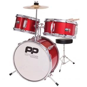 Performance Percussion Drums Junior Drum Set (3 Pieces) Metallic Red