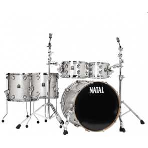 NATAL MAPLE ORIGINALS  UF22 SILVER SPARKLE SHEEL PACK