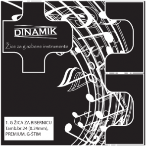 Dinamik 1. G žica za G prim - dupla
