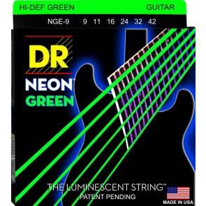 DR K3 NEON Green 009 - 042 žice za električnu gitaru