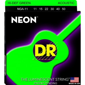 DR NEON Green 011 - 050 žice za akustičnu gitaru