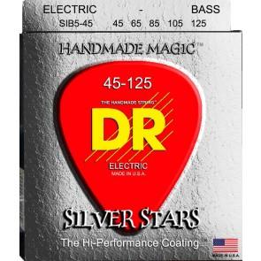 DR Silver Stars 045 - 125 žice za 5 žičanu bas gitaru