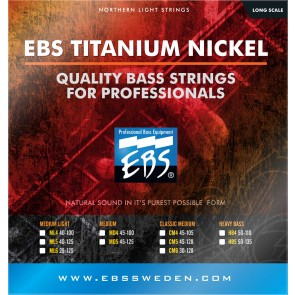 EBS TN-CM5 Titanium Nickel Classic Medium 045 - 128