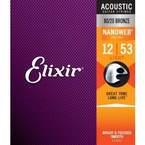 Elixir Nanoweb 012 - 053 Light žice za akustičnu gitaru