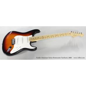 Fender American Series Standard Stratocaster Maple Neck 3 Tone Sunburst-Izložbeni primjerak