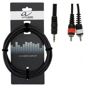 Gewa kabel adapter stereo 3,5mm jack - 2 RCA muški, 3m