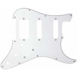 Guitar Tech Humbucker/Single Coil Style Scratchplate. 3ply White.