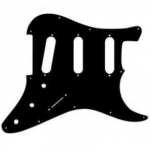 Guitar Tech S-Type Scratchplate. Black