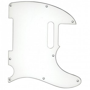 Guitar Tech TC-Type Scratchplate. White