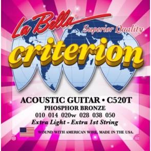 La Bella C520T .010 - .050 Criterion žice za akustičnu gitaru
