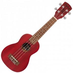 Laka Acoustic Soprano Ukulele s torbom, Red