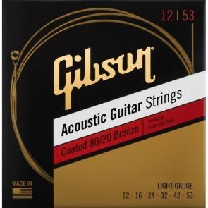 Gibson Coated 80/20 Bronze žice za akustičnu gitaru 12-53