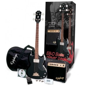 Epiphone EB-0 Ebony Bass Guitar Player Pack