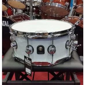 "Natal snare 14 X 6,5"" White Metallic"