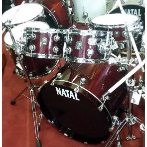 Natal Maple US Fusion X Shell Pack Gloss Burgundy