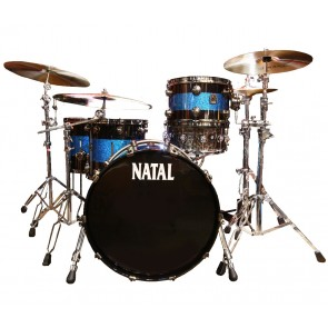 Natal The Originals Split Lacquer Shell Pack Black - Blue Sparkle