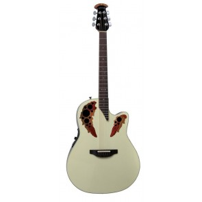 Ovation 2778AX Standard Elite Deep Contour Cutaway White Pearl