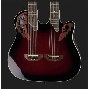 Ovation CSE225-RRB Elite Double Neck Ruby Red Burst