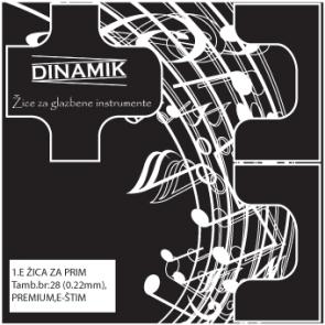 Dinamik 1. E žica za prim - dupla