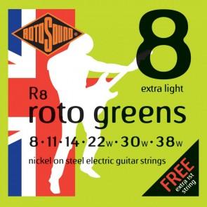 Rotosound 008 - 038  R8 Roto Green Nickel žice za električnu gitaru