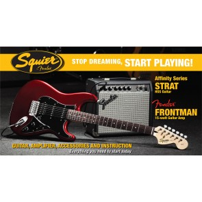 Squier Affinity Series Stratocaster HSS Candy Apple Red paket