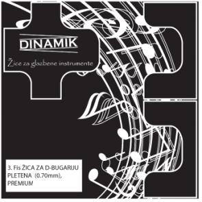 Dinamik 3. fis žica za D bugariju