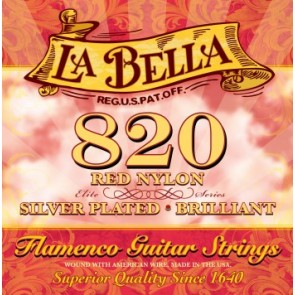La Bella 820 Elite Red Nylon Flamenco žice za klasičnu gitaru