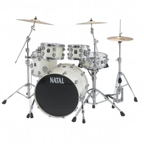 Natal Maple Fusion 20 Shell Pack + Snare White Metallic
