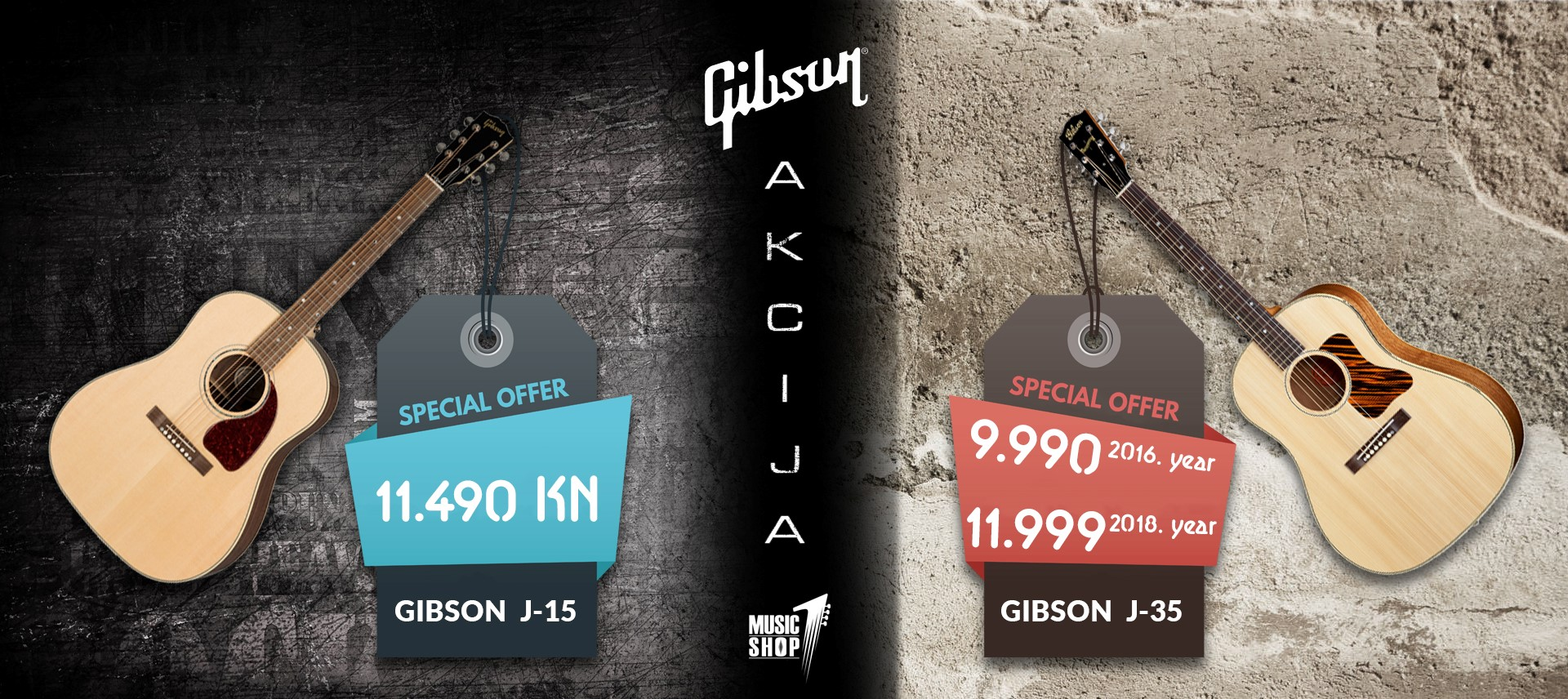 Gibson J akcija